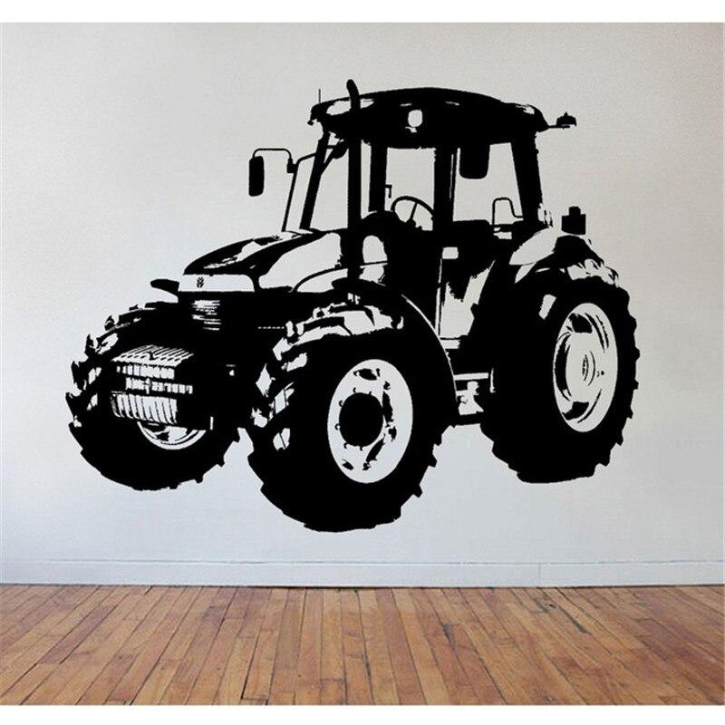 ZN  Childrens Tractor Wall Art  Wall Sticker   Wall Decal Bedroom Living Room Vinyl Kids Room Decor ZM16