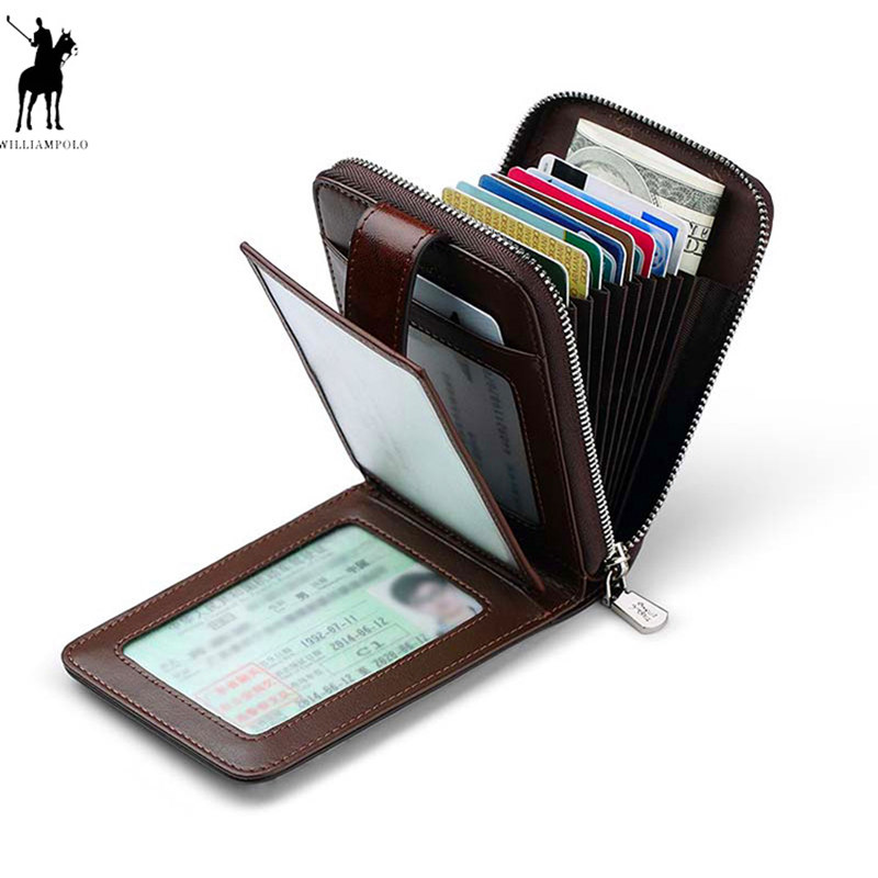 Williampolo Luxury Brand Real Leather Purse Men Casual Credit Card Holder Mini Zipper Hasp Design Small Wallet Brown Red VintageWilliampolo Luxury Brand Real Leather Purse Men Casual Credit Card Holder Mini Zipper Hasp Design Small Wallet Brown Red Vintage