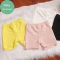 Novo chegando estilo verão shorts de algodão da menina das crianças do bebê meninas segurança curto calças casual crianças outerwear flor furo do recorte