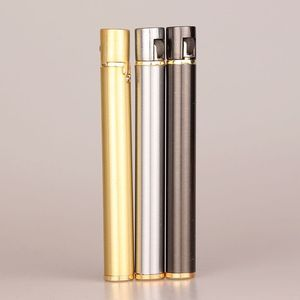 Image 2 - 2018 New Creative Mini Compact Jet Butane Lighter Metal Cigarette Shaped Inflatable Gas Lighter Cigarette No Gas