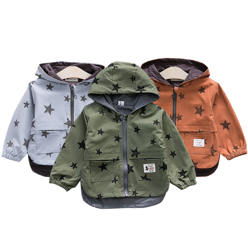 Для маленьких мальчиков куртки Демисезонный 2018 детские куртки детская одежда детские пальто с капюшоном верхняя одежда Roupas Детская куртка ...