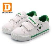 2018 أزياء العلامة التجارية الربيع الاطفال الفتيان الفتيات الأحذية حذاء قماش النبيلة عالية الجودة بو الجلود الأطفال الأحذية تنفس الأبيض