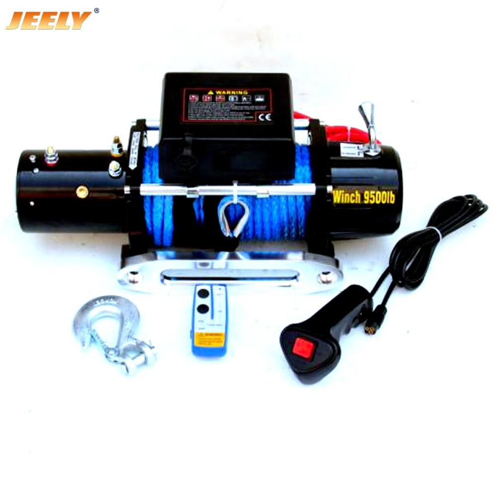 Free Shipping 12V 9500LB 4WD Electric Winch,Truck Winch,SUV Winch With UHMWPE rope free shipping 10mm 30m 12 strand uhmwpe synthetic 4x4 atv winch rope with thimble