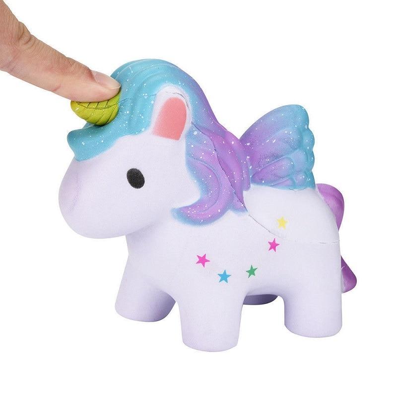 High Quality  Jumbo Squishy Rainbow Unicorns Super Slow Rising Kawaii Catoon Phone Strap Pendant Bread Cake Toys