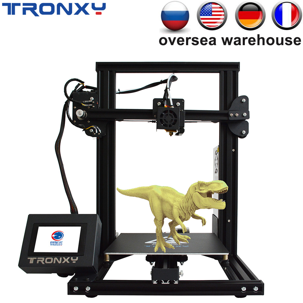 Tronxy 2019 Upgraded Quality XY-3 XY 3 3D printer High Precision Reprap DIY Kit Semi-Assembled Filament Sensor and Power Resume image