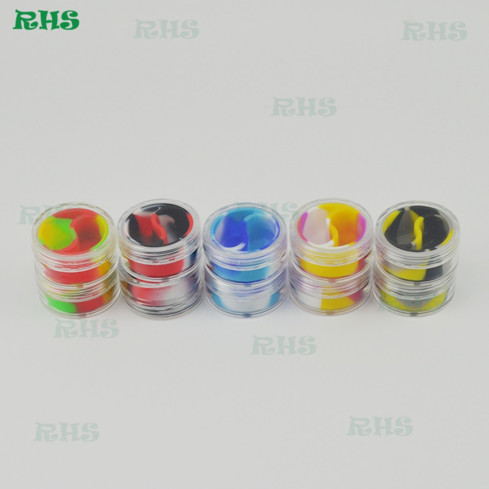 10pcs 5/7/10ml Clear Acrylic Wax Concentrate Containers, Non Stick Dab BHO  Oil Dry Herb Storage Jars Free Shipping