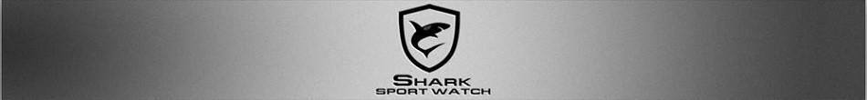 ฉลามกีฬานาฬิกายี่ห้อดิจิตอลเวลาคู่วันLEDสีดำสีแดงนาฬิกาข้อมือผู้ชายเหล็ก 2