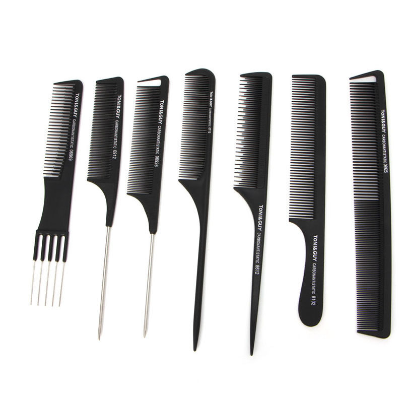 1Pc Black Plastic Fine-tooth Hairdressing Hair Style Salon Anti-static Comb