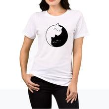 Tai Chi Cat T-shirts for Women 2017 Summer Tumblr Funny Harajuku Punk T Shirt Clothes TShirt Bts Female T-shirt Tops