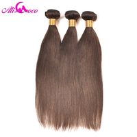 Ali Coco Brazilian Straight Hair Color 2 100 Human Hair Extensions 1PC Non Remy Hair Bundles