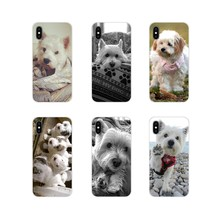 Miękka torba etui do Apple iPhone X XR XS MAX 4 4S 5 5S 5C SE 6 6 S 7 8 Plus ipoda touch 5 6 West Highland White Terrier pies szkocji(China)
