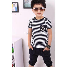 2pce Pants+Top Boys Navy Stripe Set