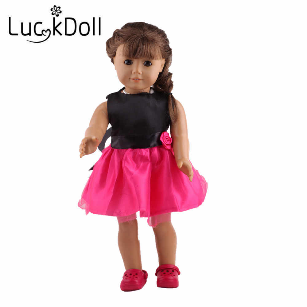 LUCKDOLL High Quality Dress Fit 18 Inch American 43cm Baby Doll Clothes Accessories,Girls Toys,Generation,Birthday Gift