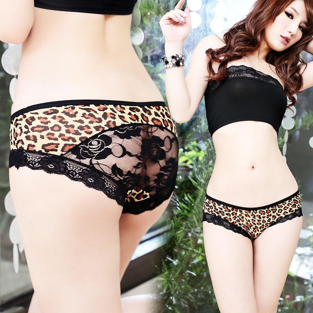 El nuevo leopardo caliente cómoda ropa interior atractiva del grano-1233