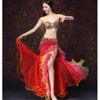 2018 New Women Luxury Costume Belly Dance Dress Bra Belt Skirt Arrival Clothing Belly Dancing Oriental Costume set M L XL