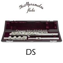 Muramatsu DS C Tune флейта 17 ключей отверстия открытые Посеребренная Флейта с чехлом e-механизм Flauta
