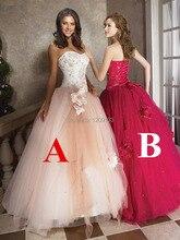 Vestido De Festa 2015 Neue Ankunft Vintage Ballkleid Schatz Appliqued Perlen Prom Kleider Nach Maß 2015