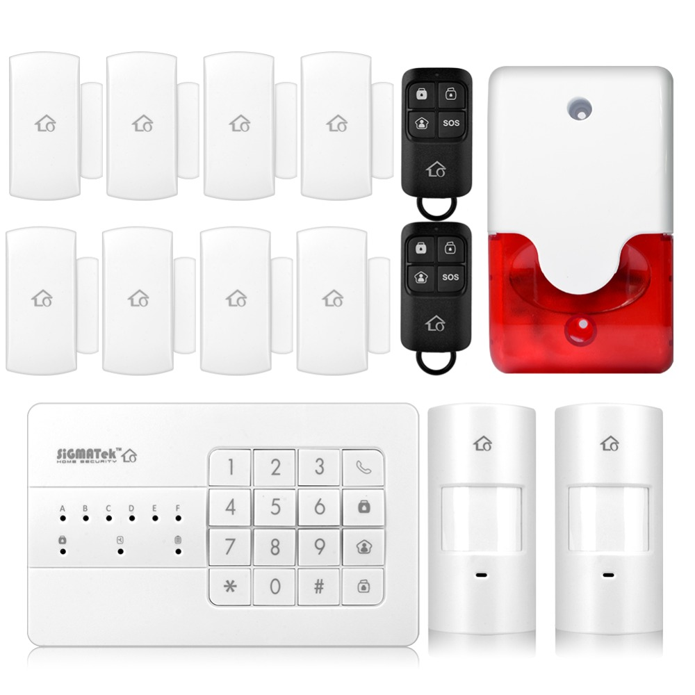 Wireless PSTN Smart Burglar Alarm System Wired Wireless Home Burglar Security Alarm 433mhz