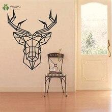 YOYOYU Wall Decal Vinyl Sticker Geometric Deer Head Specia Animal Design Home Decor Removable Art Mural Poster YO421
