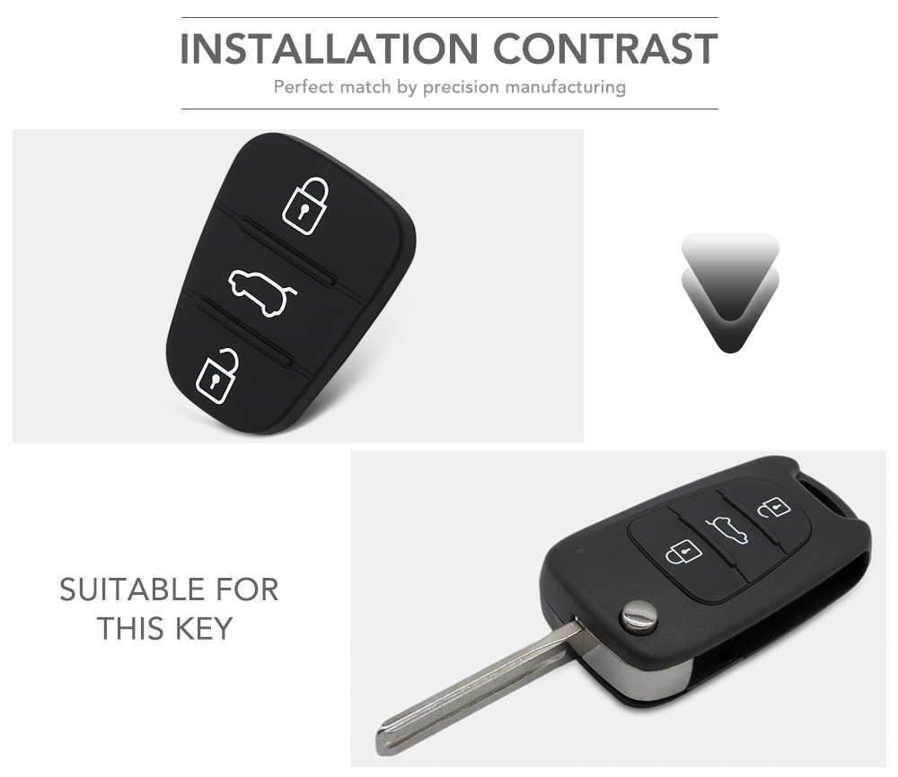 3 botões do Controle Remoto da Chave Do Carro Shell Capa Para Hyundai Accent Solaris Tucson l10 l20 l30 Rio Kia Ceed Do Caso Da Aleta