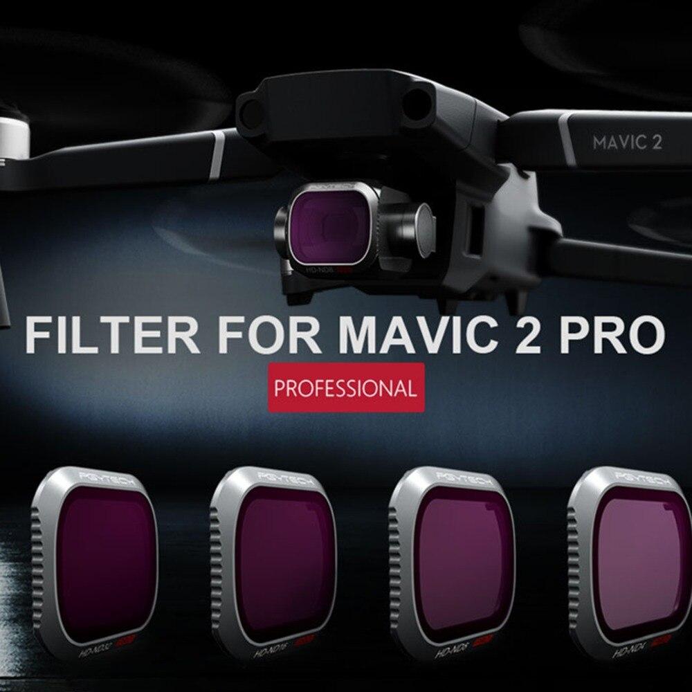PGYTECH nouveauté 4 pièces ND Caméra Lentille Optique Filtres Ensemble pour DJI MAVIC 2 PRO-ND8 16 32 64 Filtre pour DJI Vol Photographie