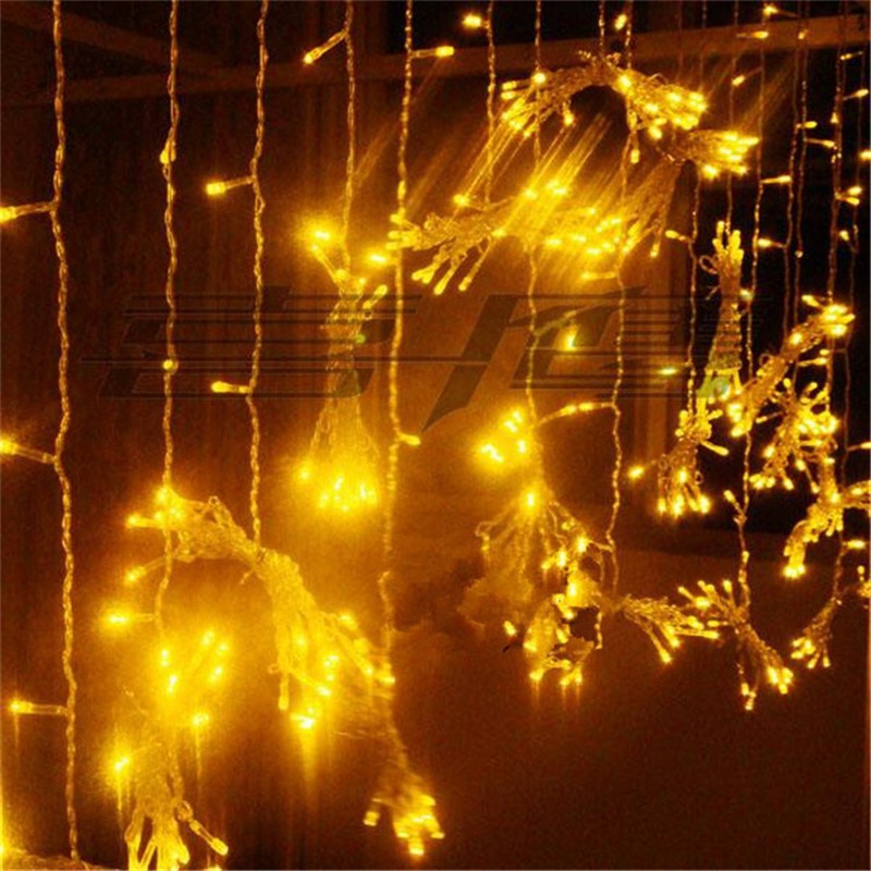 Fairy LED 10x0.5m Curtain String Light Decoration Christmas Party Holiday New Year Garland Waterproof Garden Outdoor Home Lamp 3x3m led curtain string light fairy new year christmas garland decoration led waterproof lamp wedding party indoor outdoor decor