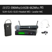 Микрофонная стадии uhf mic нагрудные гарнитура беспроводная система pro ручной +