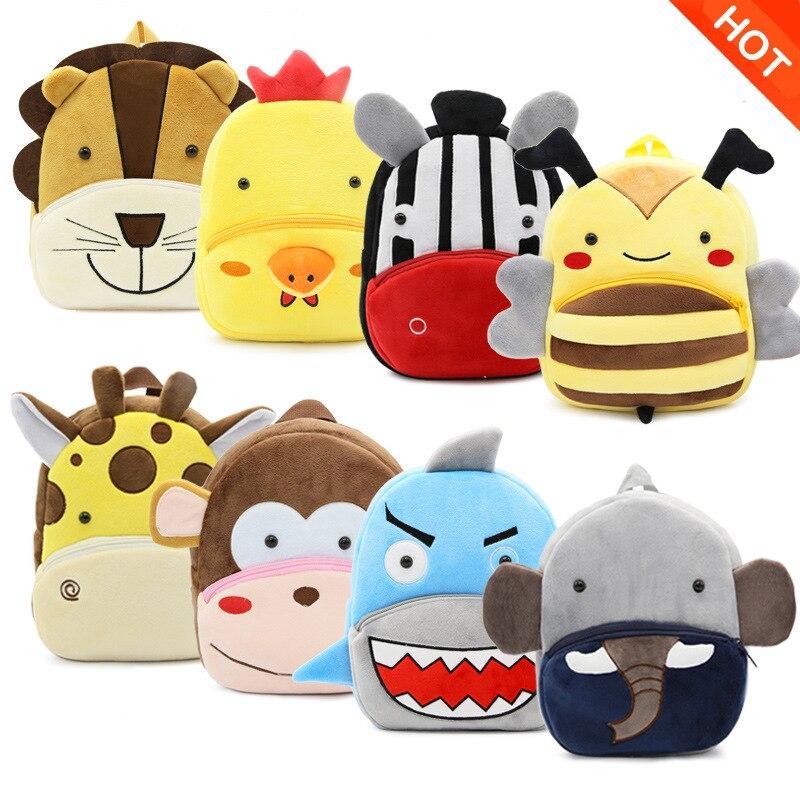 Plush Backpacks Baby Bags Animals Cartoon Doll Kids Toys For Children Girl Boy Shoulder Bag For Kindergarten