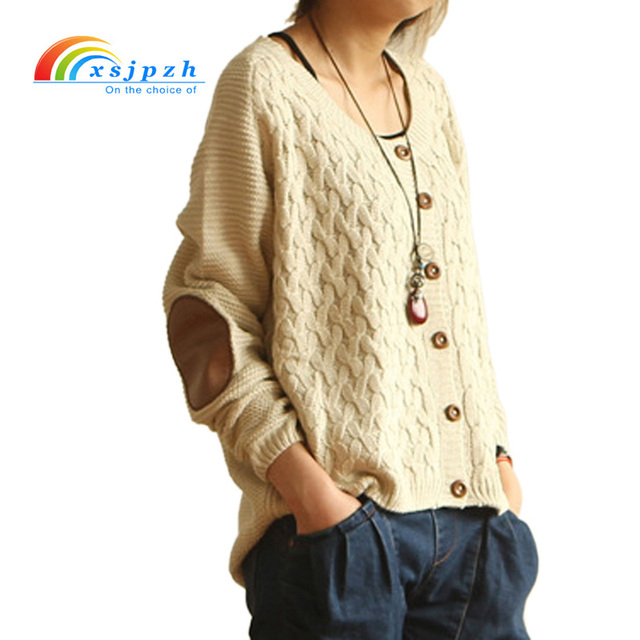 Xsjpzh New Women Cardigan Sweater Spring Autumn Knitted Sweater O