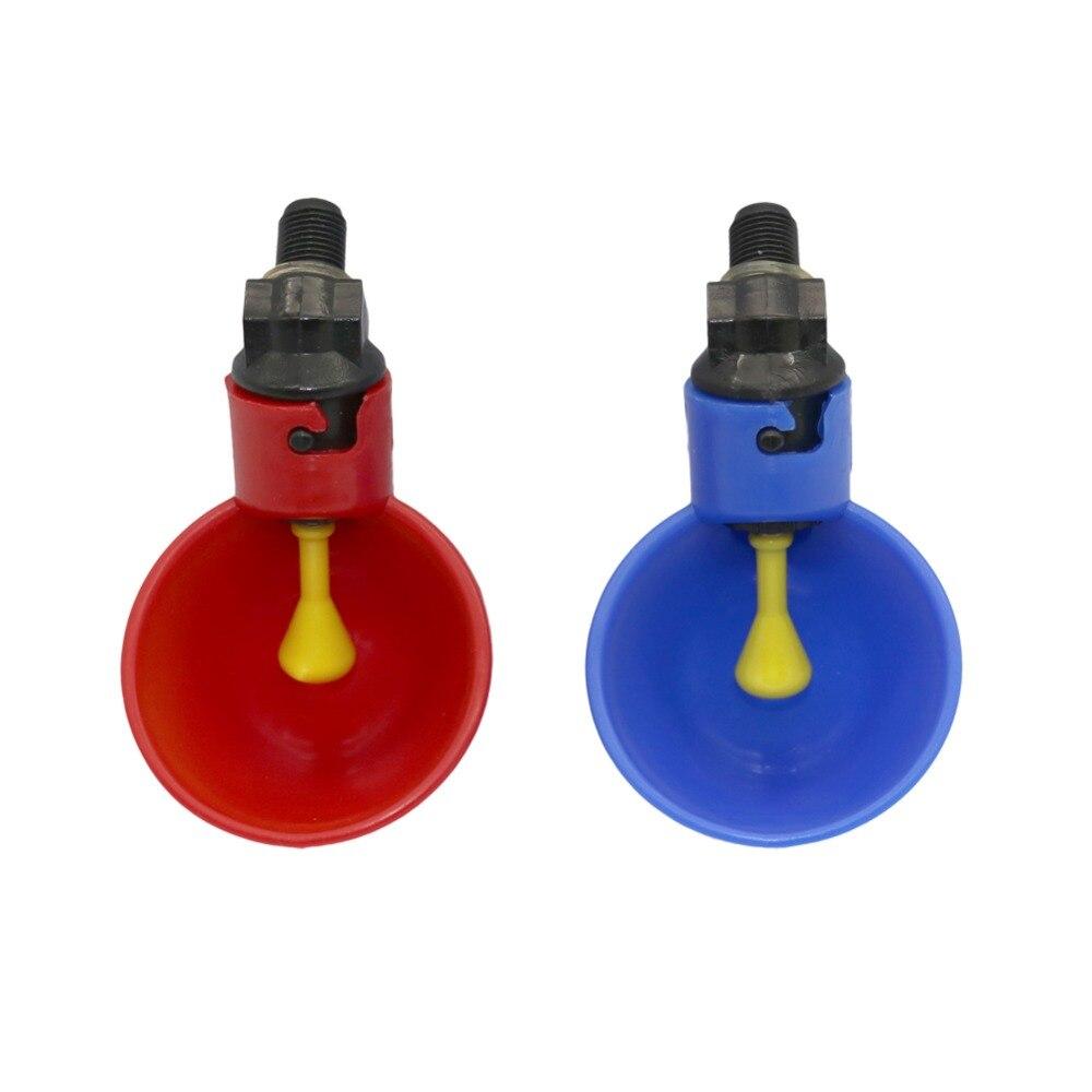 4 PCS Automática Codorna Bebedor de Frango Mamilo Waterer Bacia Com Amarelo Farm poultry sistema de água potável