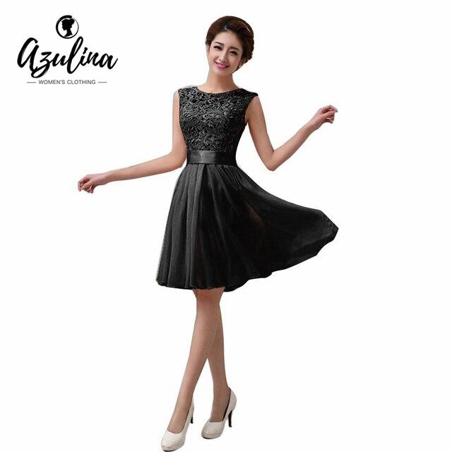Azulina 2017 sexy elegante del verano de princesa dress de las mujeres florales de encaje blanco negro gasa de encaje dress plisado partido vestido de festa