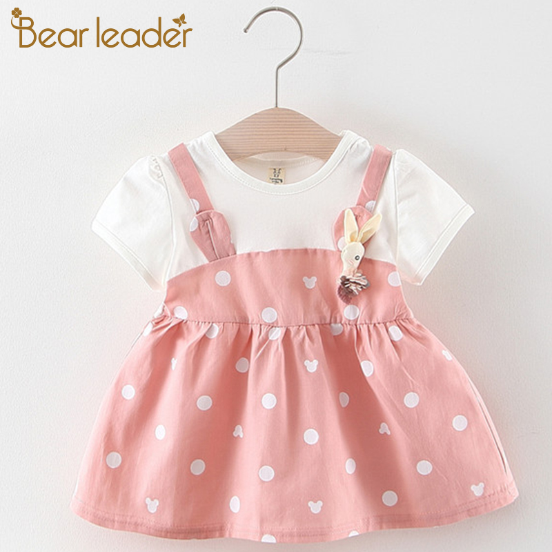Bear Leader Baby Dresses 2019 Summer Girls Cotton Children Dress Polka Dot Princess Costume for Girls Fashion Baby Clothes(China)