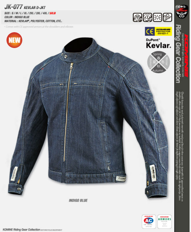 купить Ko mine JK-077 Kevlar denim jacket  with protector motorcycle  jacket  racing jacket дешево