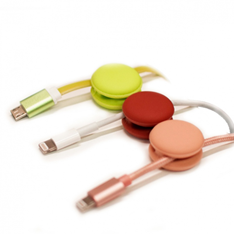 Suntaiho for wires storage cable organizer 4Set for phone cable winder Round Clip phone Cable for iPhone Ethernet Earphone