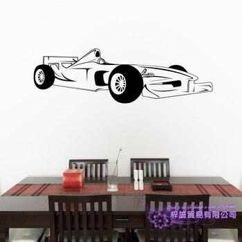 F1 Pegatina de coche etiqueta del vehículo fórmula coches de carreras carteles vinilo pegatinas de pared Pegatina decoración Mural Pegatina de coche