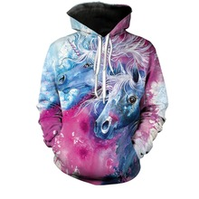 PLstar Cosmos 2018 New Arrival Unicorn Hoodies 3D Printed Hiphop Kawaii Unicornio Hooded Women Sweatshirt