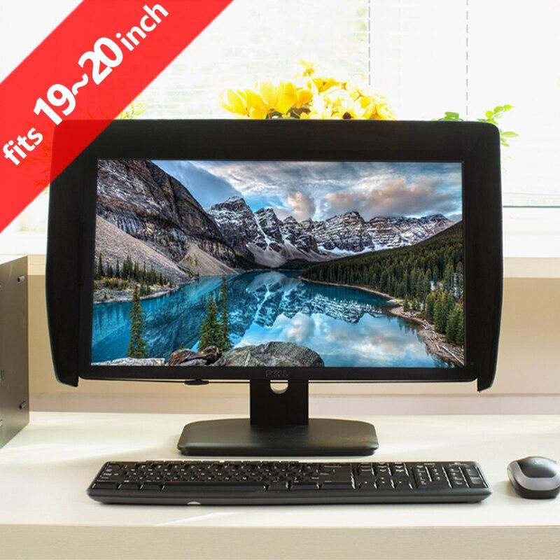 ILooker 20E 19 pouces & 20 pouces LCD LED moniteur vidéo capot pare-soleil pare-soleil pour Dell HP Viewsonic Philips Samsung LG EIZO NEC ASUS