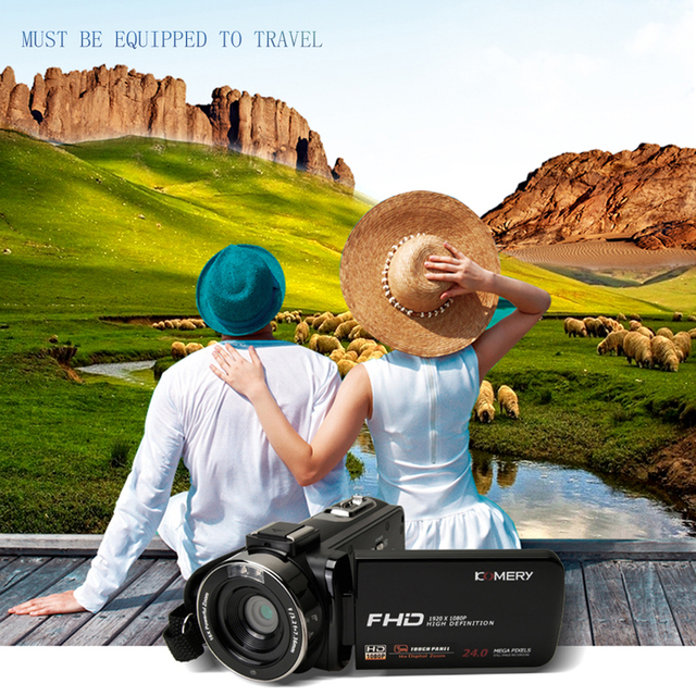 KOMERY New Arrivals Video Camera Camcorder 3.0 inch IPS HD Touch Screen Real 1080P Support Remote Control Original camera 5