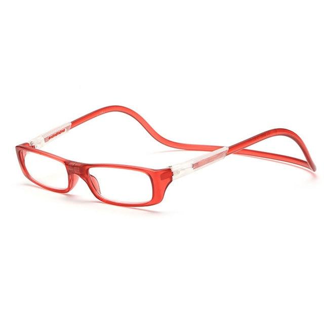 ac2363b15c Unisex Magnet Reading Glasses Men and Women Colorful Adjustable Hanging  Neck Magnetic Front Rim Reading Eyeglasses