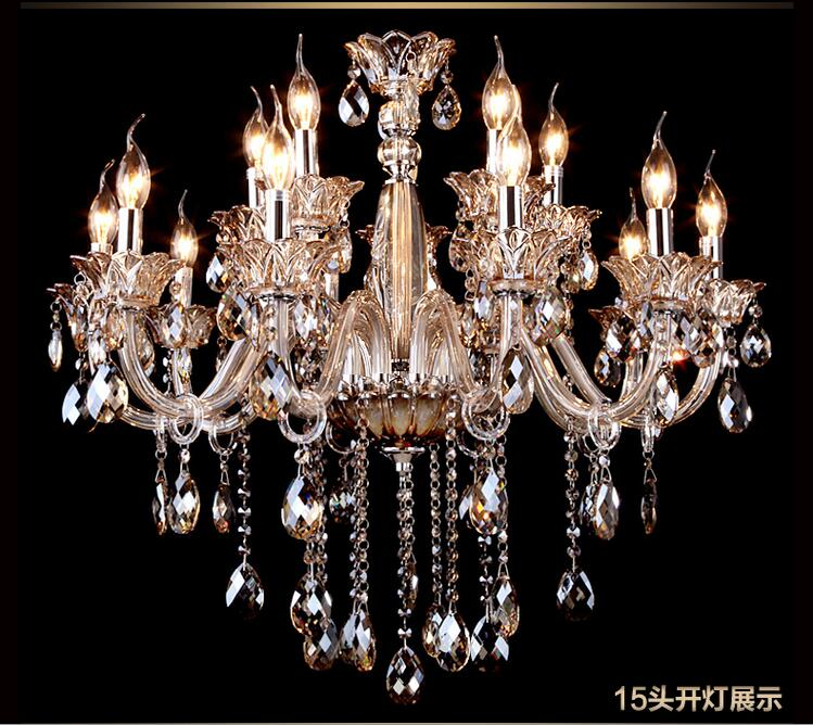 Luxury Modern Crystal Chandeliers Pendant Lamp Dining Room Living Lobby lamp Lighting E14 Candle K9 crystal lustres de teto
