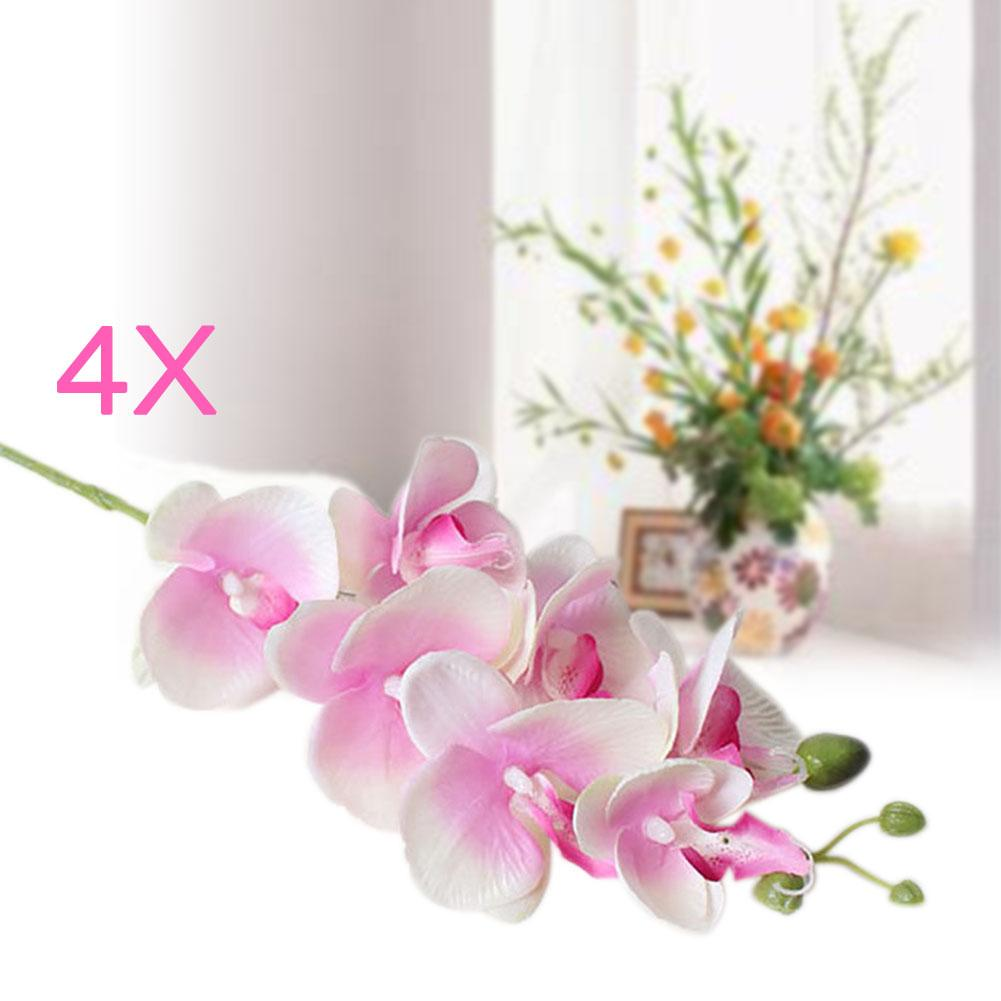 Free Shipping 4 Pcs Hair Accessories Artificial Butterfly Orchid