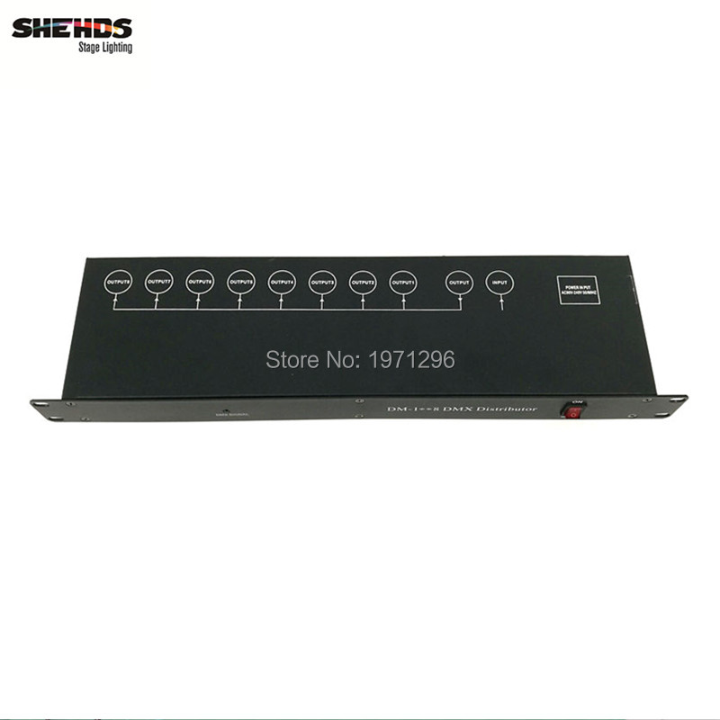 Stage Light Controller DMX512 Splitter Light Signal Amplifier Splitter 8 way DMX Distributor for stage Equipment dhl fedex free shipping best quality 8ch dmx splitter dmx512 light stage lights signal amplifier splitter 8 way dmx distributor