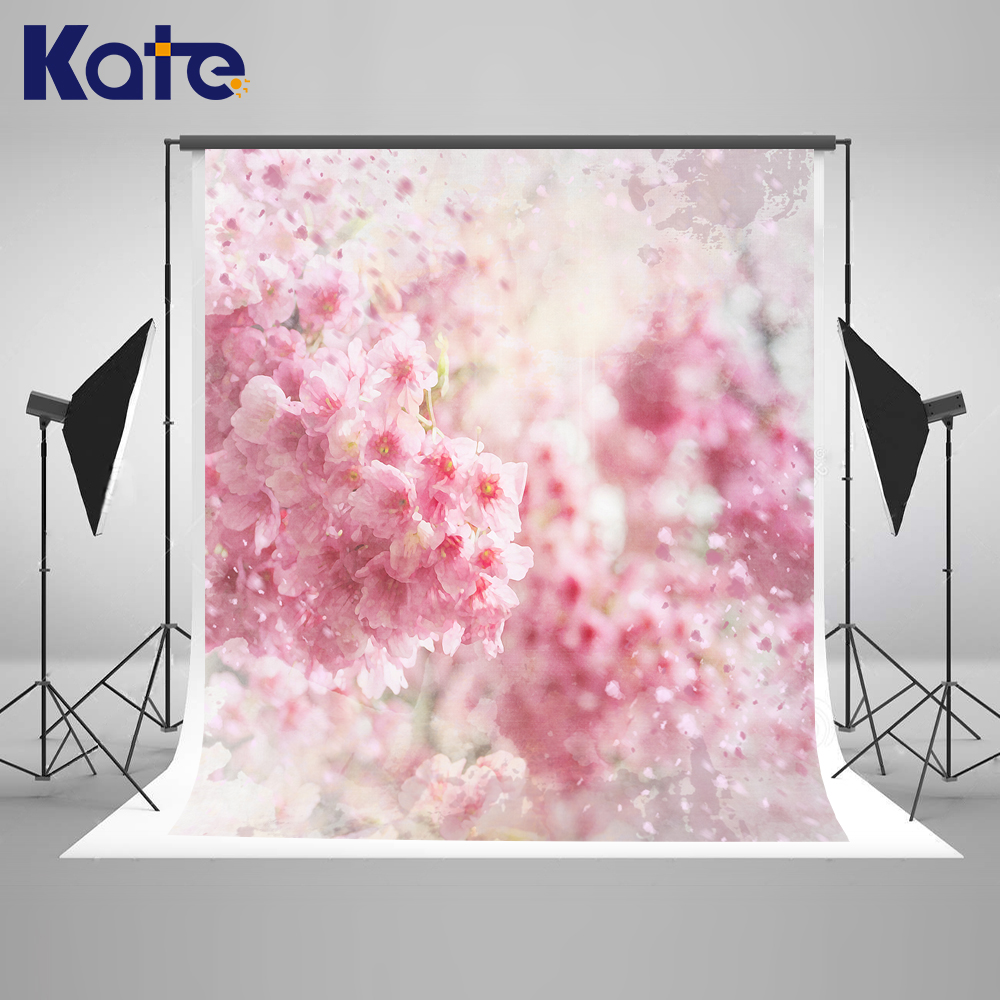 Kate 5x7ft Pink Flower Baby Photography Backdrops Wedding Photo Background Washable New Born Photography Studio kate dark blue starry sky baby photography backdrops with cloud studio washable seamless photography background material