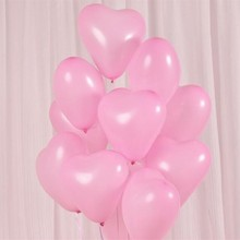 100% latex baloons 50pcs/lot 10inch thick pink heart-shaped ballons birthday party decorations adult wedding balloons anniversai