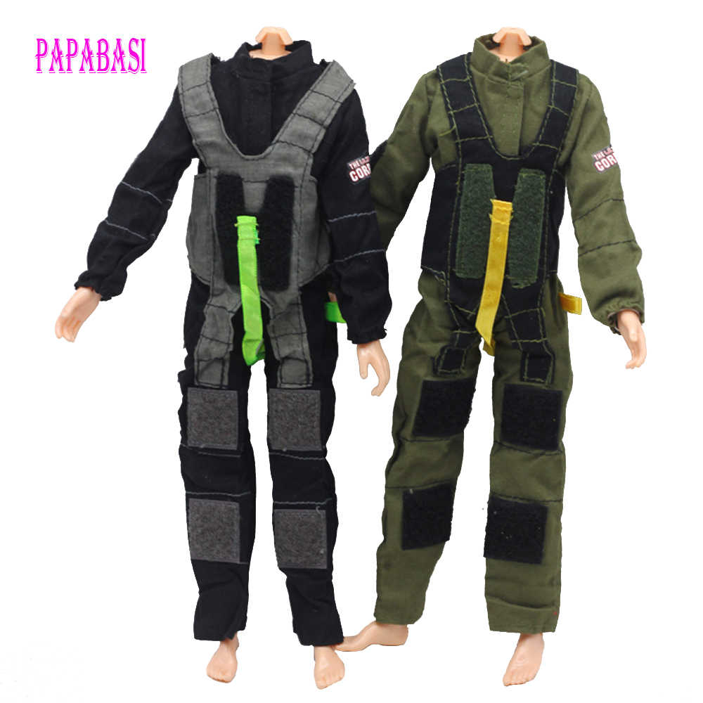 1 cái Soldier Quần Áo Nước Chữa Cháy Chiến Đấu Đồng Phục Cảnh Sát Cop Amry Outfit Đối Với Barbie Boy Nam Cho Ken Doll Lanard