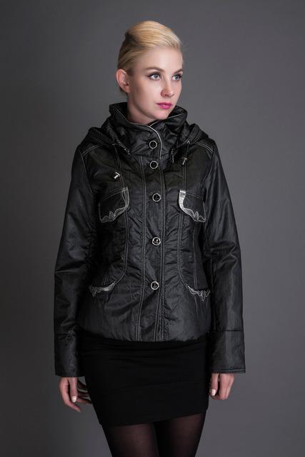 Basic editions 2016 abrigo de invierno con capucha cuello de piel de seda tejido metálico corto chaqueta de un solo pecho sólido s-xxl jqm08010