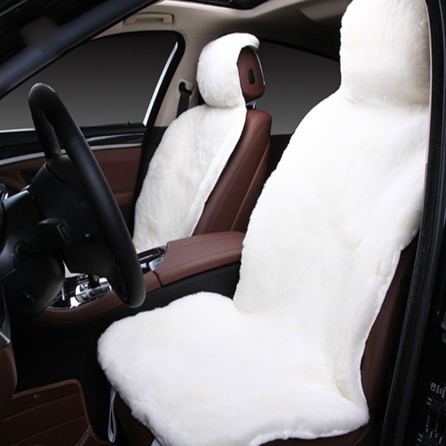 Universal Hot Selling Genuine 100 Sheepskin Car Seat Cover Interior Accessories For