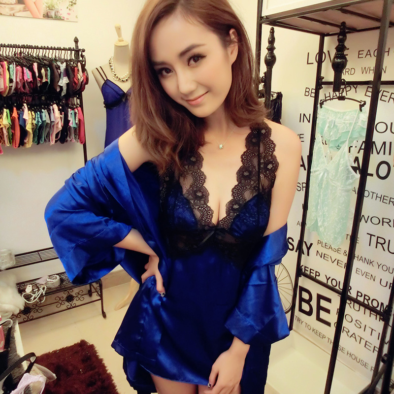 03c7732c4 Lace High end Women Sexy Sleepwear Cheap China Clothes Erotic Nightgown  Deep V neck Robe Sling Dress Cross Straps Sexy Lingerie-in Babydolls &  Chemises from ...