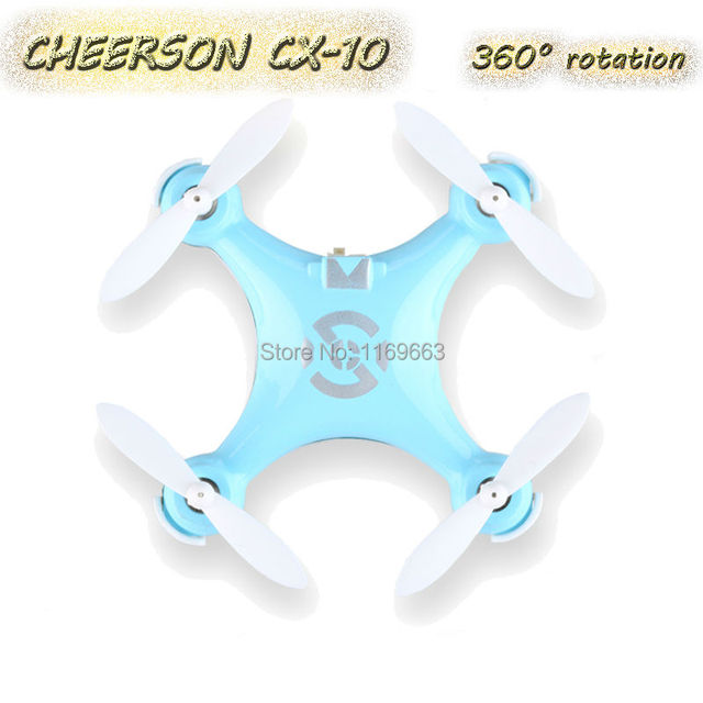 Free Shipping Cheerson CX-10 360 Degree Rotation RC Helicopter  Mini Drone RC Quadcopter 2.4G 4CH 6 Axis LED RC Helicopter Toy