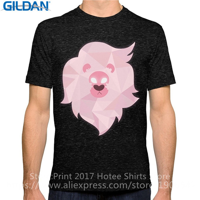 4ce120a97 Chinese Style Comfort Soft Men O-Neck Printing Machine Lion Steven Universe  Short-Sleeve Shirt